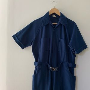 Vintage Dark Blue Jumpsuit/Coveralls